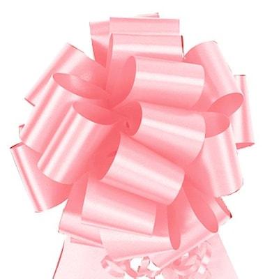 "Shamrock 5 1/2"" X 20 Loops Flora Satin(r) Perfect Bows, Pink, Roll"