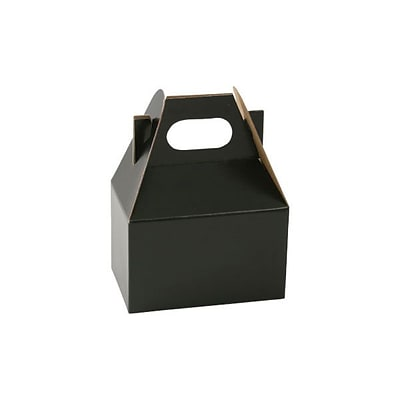 Shamrock 4 x 2 1/2 x 2 1/2 Gable Box; Midnight Black, 100/Carton