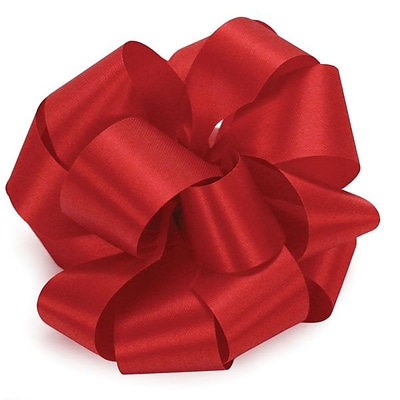 Shamrock 1 1/2 x 100 yds. Satin Acetate Ribbon; Holiday Red, Roll