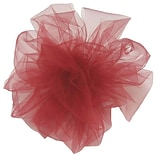 Shamrock 6 x 25 yds. Tulle Ribbon; Red, Roll