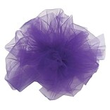 Shamrock 6 x 25 yds. Tulle Ribbon; Purple, Roll