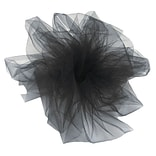 Shamrock 6 x 25 yds. Tulle Ribbon; Black, Roll