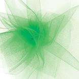 Shamrock 6 x 25 yds. Tulle Ribbon; Kelly Green, Roll
