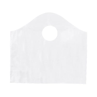 Shamrock 12 x 11 x 4 Super Wave® Die Cut Handle Bags Pack; Frosted Clear, 250/Carton