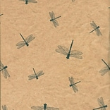 Shamrock 20 x 30 Dragonflies Printed Tissue Paper; Green/Tan Brown, 200/Pack