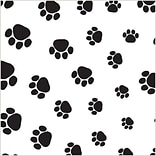Shamrock 20 x 30 Puppy Paws Printed Tissue Paper; Black on White, 200/Pack