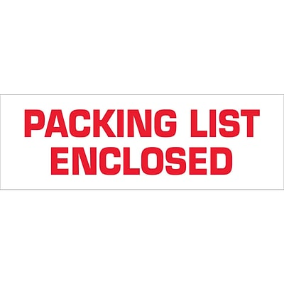 Tape Logic™ 2 x 110 yds. Pre Printed Packing List Enclosed Carton Sealing Tape, 18/Pack