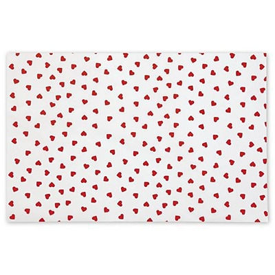 Bags & Bows® 20 x 30 Contemporary Hearts Tissue Paper, White, 240/Pack