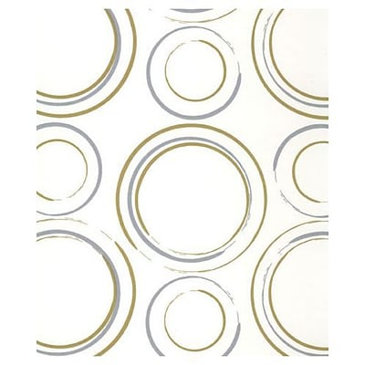 Bags & Bows® 20 x 30 Metallic Circles Tissue Paper, White, 200/Pack