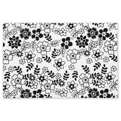 Bags & Bows® 20 x 30 Retro Floral Tissue Paper; White, 240/Pack