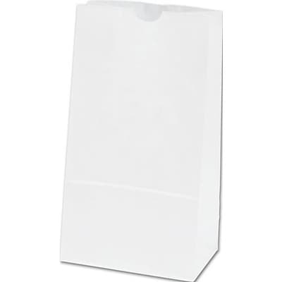 Paper 8.19H x 4.25W x 2.38D SOS Food Bags, White, 500/Pack (12-040207-9)