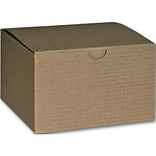 Bags & Bows® 3 x 5 x 5 One-Piece Gift Boxes, Kraft, 100/Pack