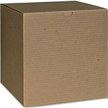 Bags & Bows® 6 x 6 x 6 One-Piece Gift Boxes, Kraft, 100/Pack