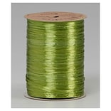 1/4 x 100 yds. Pearlized Wraphia Ribbon, Jungle Green (263-2-102)