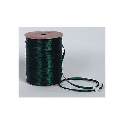 1/4 x 100 yds. Pearlized Wraphia Ribbon, Hunter Green (263-2-20)