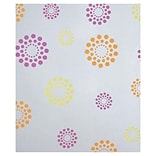 Bags & Bows® 30 x 100 Blooming Dots Polypropylene Film RL, Orange and Pink and Yellow on White, RL