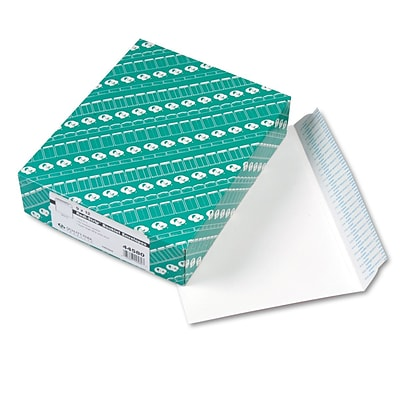 Quality Park Products® Redi-Strip 9 x 12 White 28 lbs. Wove Open Side Booklet Envelopes, 100/Box