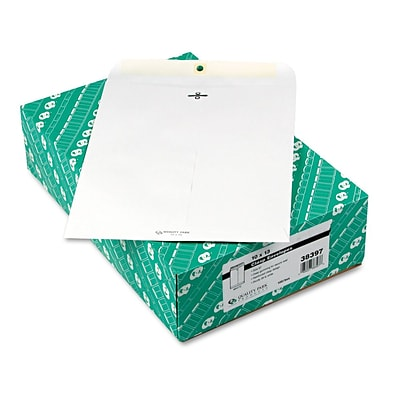 Quality Park® 28lb. Clasp Catalog Envelopes, White, 10x13, 100/Box