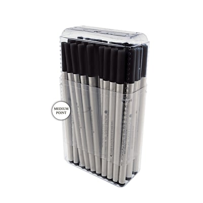 Monteverde® Medium Rollerball Refill For Montblanc Rollerball Pens, Black, 50/Pack