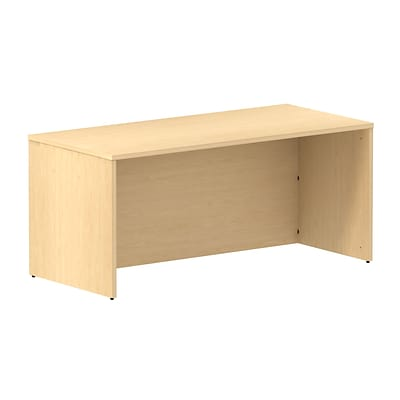 Bush Business 300 Series 66W Shell Desk, Natural Maple