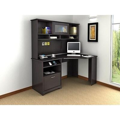 Bush Furniture Cabot Corner Desk With Hutch, Espresso Oak