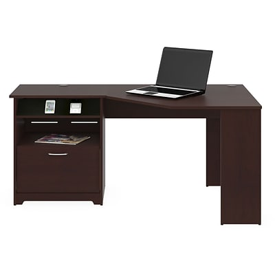 Bush Furniture Cabot Corner Desk, Harvest Cherry