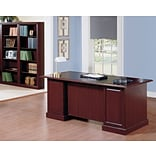 Bush Business Saratoga Desk with Bookcases, Harvest Cherry