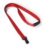 IDville 1346785RD31 35 Antimicrobial Blank Lanyards, Red, 25/Pack
