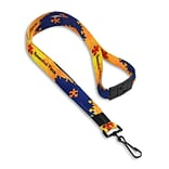 IDville 1346695BAC31 36 Essential Piece Pre-Designed Lanyards with Breakaway Release, Multi, 10/Pack