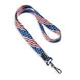 IDville 1345259STC31 36 American Flag Pre-Designed Lanyards, Multi, 10/Pack