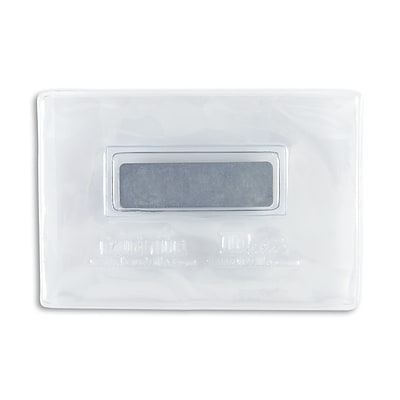 IDville 134120531 Magnetic Badge Holders, Credit Card Size, Clear, 25/Pack