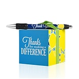 Baudville® Sticky Note Cube W/ Pen Set, Thanks for Making a Difference
