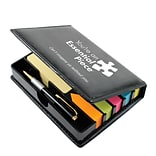 Baudville® Flip Top Sticky Note Holder With Pen and Calendar, Essential Piece
