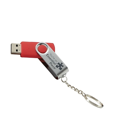 Baudville® 1GB USB Drive Key Chain, Essential Piece