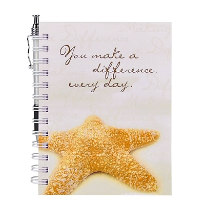 Baudville® Hardcover Journal W/ Pen, Starfish: Making a Difference