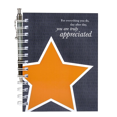 Baudville® Hardcover Journal W/ Pen, You Are Truly Appreciated