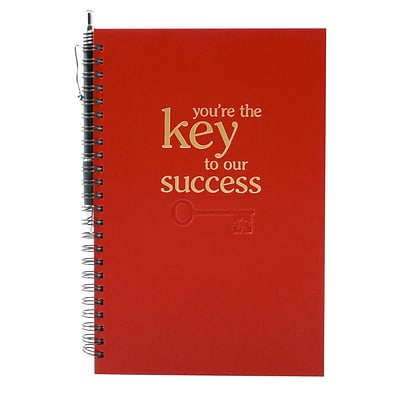 Baudville® Foil-Stamped Journal W/ Pen, Key to Success
