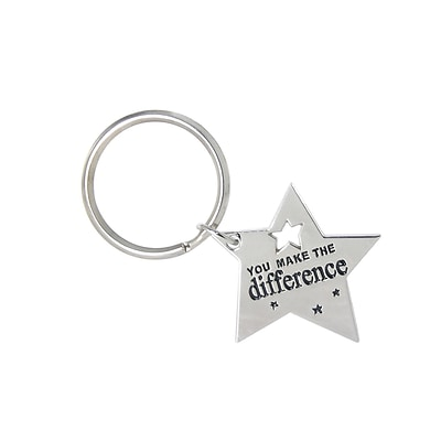 Baudville® Key Chain, You Make the Difference Star