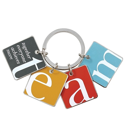 Baudville® Colorful Simply Charming Key Chain, TEAM