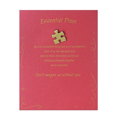 Baudville® Character Pin W/ Card, Essential Piece - Red Card