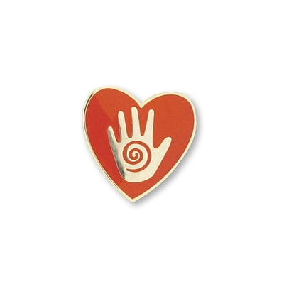 Baudville® Lapel Pin, Helping Hand in Heart