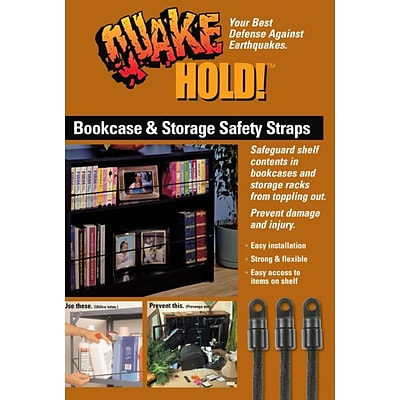 Ready America™ QuakeHOLD!™ Bookcase and Storage Strap, 5/Pack