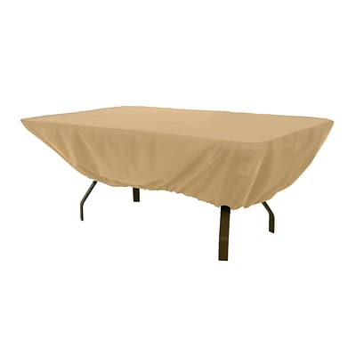 Classic® Accessories Terrazzo Fabric Rectangular/Oval Table Cover, Sand