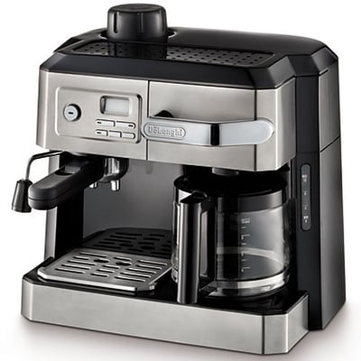 Delonghi BCO320T 10 Cup Programmable Combination Espresso and Drip Coffee Maker, Stainless Steel