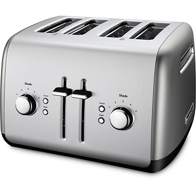 KitchenAid® 1800 W 4-Slice Toaster With Manual High-Lift Lever, Silver