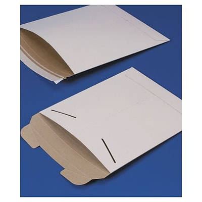 Bags & Bows® 9 3/4 x 12 1/4 Fiberboard Self-Seal Shipping Mailer, White, 100/Pack