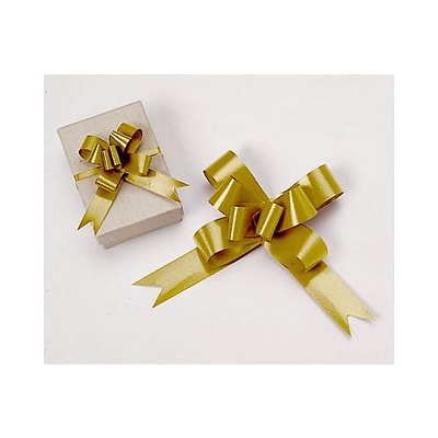 2 Butterfly Bows, Gold (256-02-15)