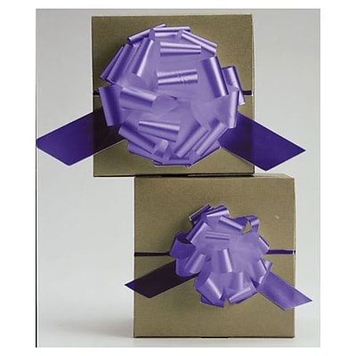 4 Satin Perfect Pull Bows, Purple (257-0418-14)