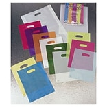 Bags & Bows® 9 x 12 Frosted High Density Merchandise Bags, 120/Pack