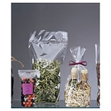 Bags & Bows® 4 x 2 1/2 x 13 Hard Bottom Polypropylene Bags, Clear, 100/Pack